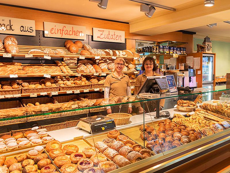 Reichhaltiges Sortiment in der Bäckerei Specht