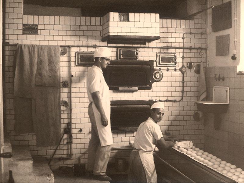 Die alte Backstube im Jahre 1955