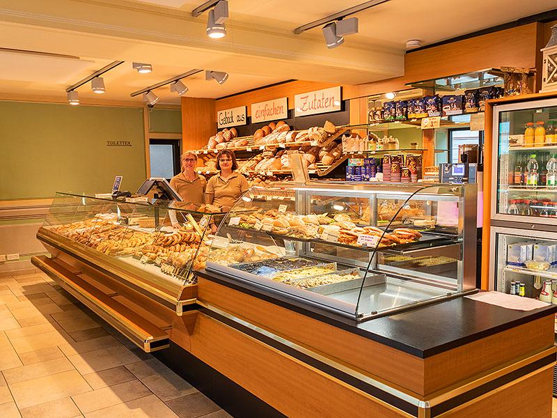 Zweite Ladenansicht in der Bäckerei Specht